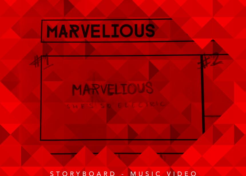 Voorbereiden voor eerste videoclip Marvelious – She's So Electric